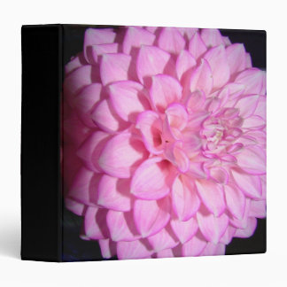 Pink Dahlia Flower Floral Photography Avery Binder