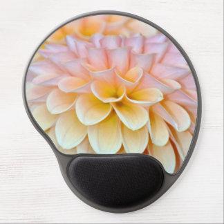 Pink dahlia flower gel mousepad