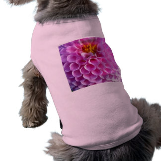 Pink Dahlia Flower Macro Shirt