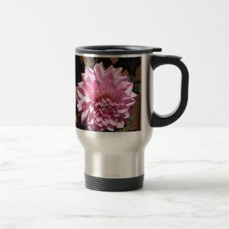 Pink Dahlia Flower Travel Mug