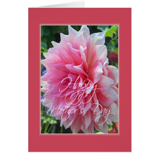 Pink Dahlia - Happy Mother's Day Card