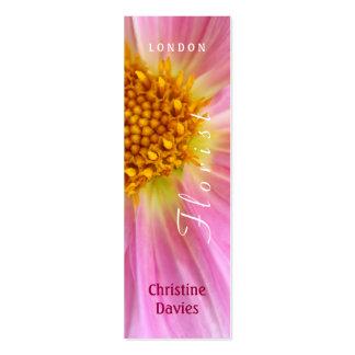 Pink Dahlia macro photograhy, florist Business Card