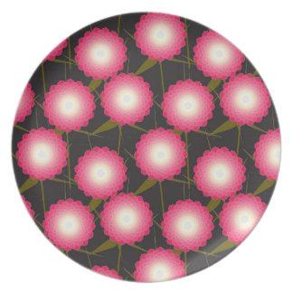 Pink Dahlia Plate
