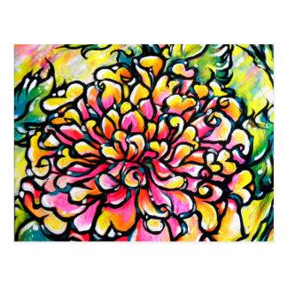 Pink Dahlia Post Card