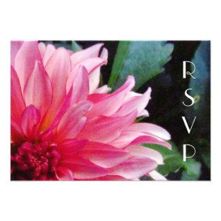 Pink Dahlia RSVP Card