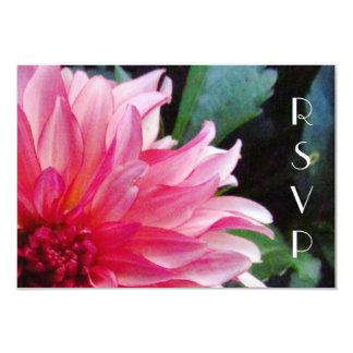 "Pink Dahlia RSVP Card 3.5"" X 5"" Invitation Card"
