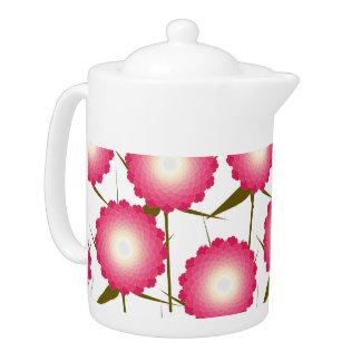 Pink Dahlia Teapot