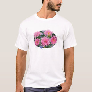Pink Dahlias and Asters Mens T-Shirt