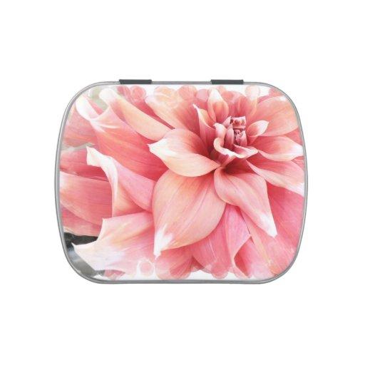 Pink Dahlias Jelly Belly Tin