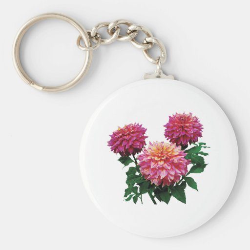 Pink Dahlias Kidds Climax  Keychain