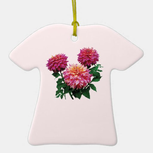 Pink Dahlias Kidds Climax Ornaments