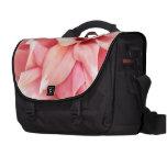 Pink Dahlias Laptop Messenger Bag