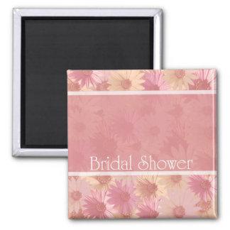 pink daises bridal shower magnet
