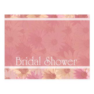 pink daises~ bridal shower postcard