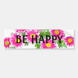 Pink Daisies / Asters Bouquet + your ideas Car Bumper Sticker