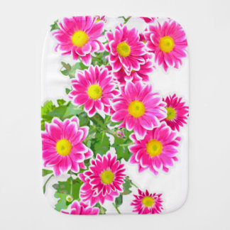 Pink Daisies / Asters Bouquet + your ideas Burp Cloth
