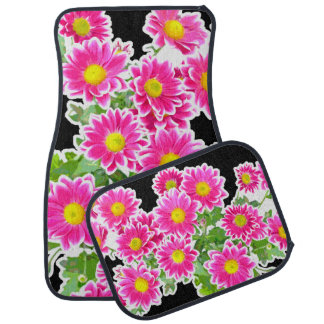 Pink Daisies / Asters Bouquet + your ideas Car Mat