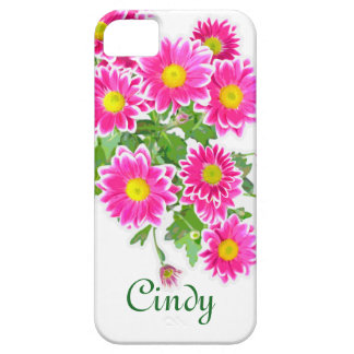 Pink Daisies / Asters Bouquet + your ideas iPhone 5 Case