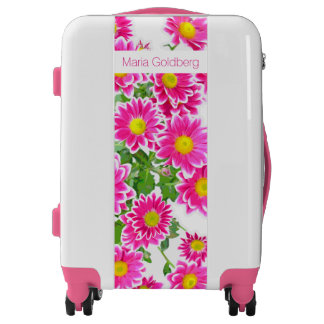 Pink Daisies / Asters Bouquet + your ideas Luggage