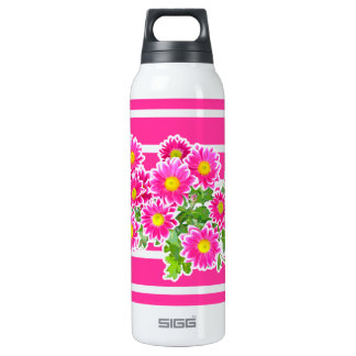 Pink Daisies / Asters Bouquet + your ideas 16 Oz Insulated SIGG Thermos Water Bottle