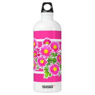 Pink Daisies / Asters Bouquet + your ideas SIGG Traveler 1.0L Water Bottle