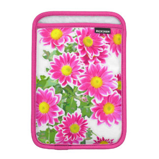 Pink Daisies / Asters Bouquet + your ideas Sleeve For iPad Mini