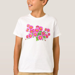 Pink Daisies / Asters Bouquet + your ideas T-Shirt
