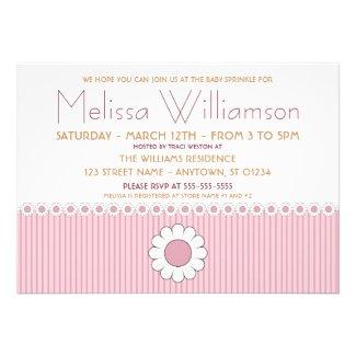 Pink Daisies Baby Sprinkle Invitations