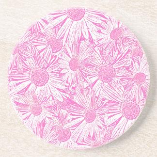 Pink Daisies Coasters