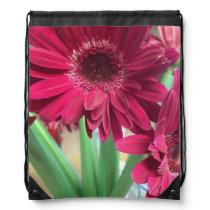 Pink Daisies Drawstring Bag
