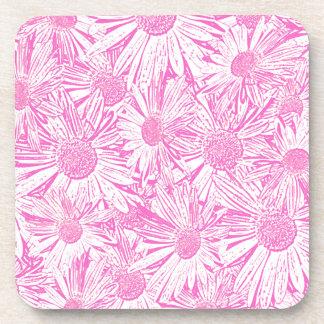 Pink Daisies Drink Coaster