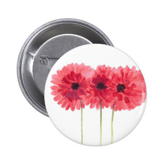 pink daisies flowers button