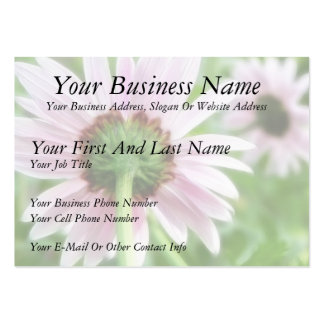 Pink Daisies - Front and Back Business Card Template