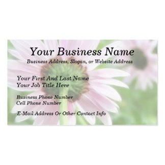Pink Daisies - Front and Back Business Card