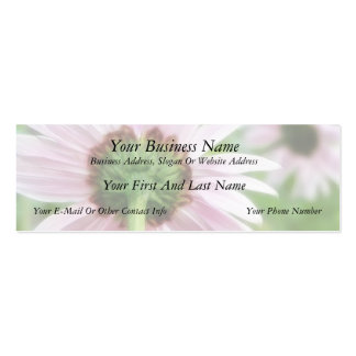 Pink Daisies - Front and Back Mini Business Card