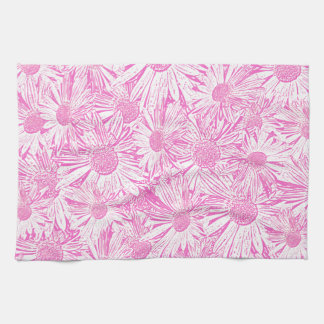 Pink Daisies Hand Towels
