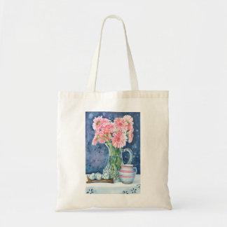 Pink Daisies in Crystal Tote Bag