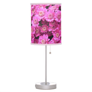 Pink daisies lamps