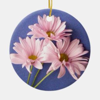 Pink Daisies Memorial Ornament