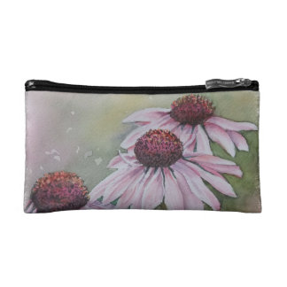 PINK DAISIES MONOGRAMED COSMETIC/CLUTCH BAG