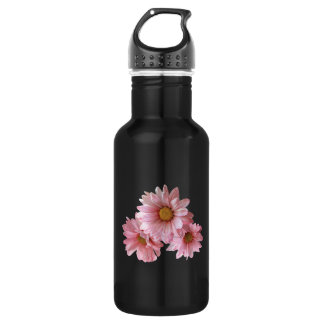 Pink Daisies 18oz Water Bottle