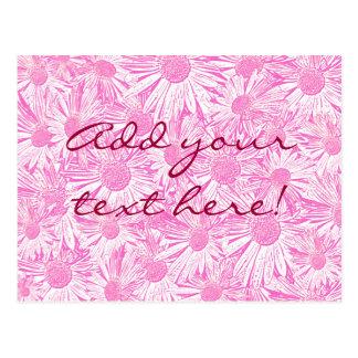 Pink Daisies Postcard
