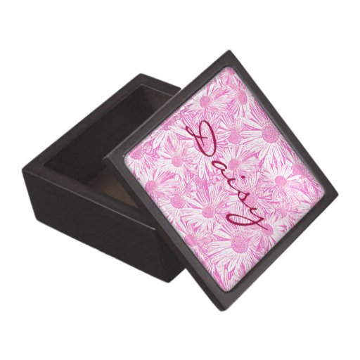 Pink Daisies Premium Trinket Boxes
