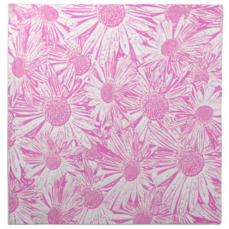 Pink Daisies Printed Napkin