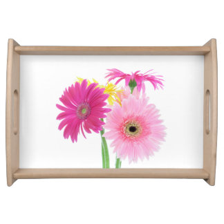 Pink Daisies Serving Trays