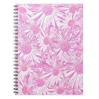 Pink Daisies Spiral Notebooks
