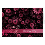 Pink Daisies Thank You Card