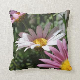 Pink Daisies Throw Pillow