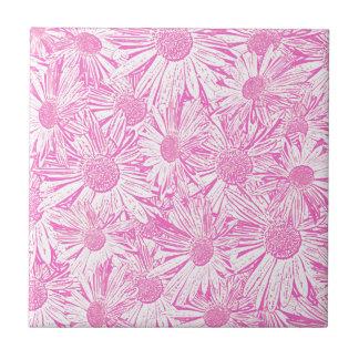Pink Daisies Tiles
