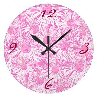 Pink Daisies Wallclock
